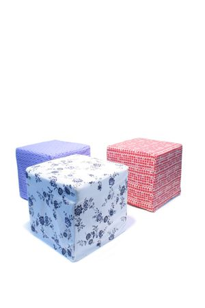 Cube Stool - Vintage Patterned Covers