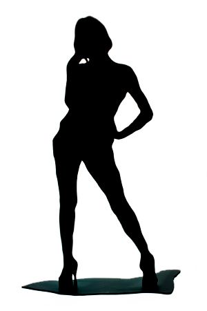 Bond 007 Female Silhouette
