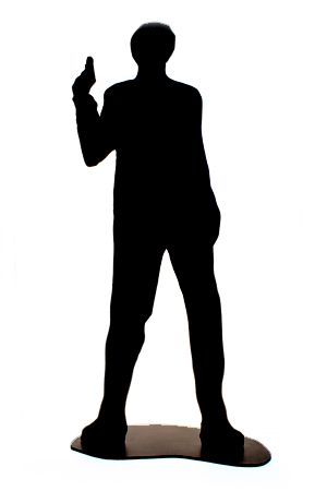 Bond 007 Standing Male Silhouette