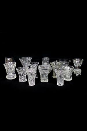 Vase - Vintage Cut Glass Large Vases