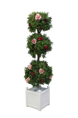 Topiary - Triple Ball with Roses