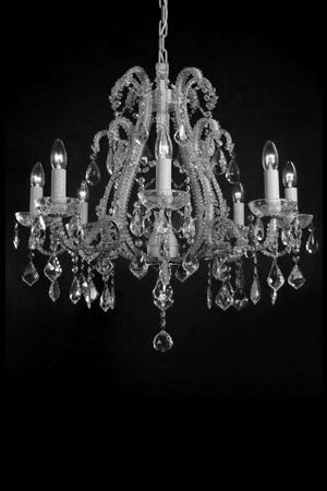 Chandelier - Ivory & Crystal