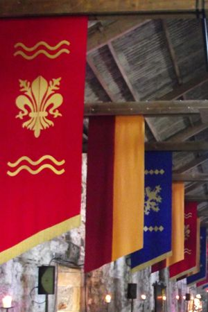 Banner - Blue Heraldic