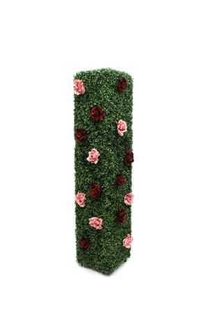 Topiary - Rectangle with Roses