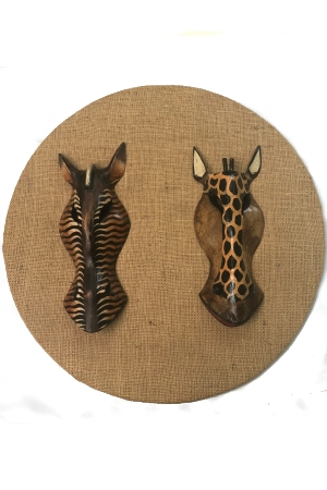 African animal masks - assorted