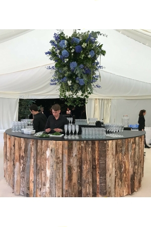 Bar - Round Rustic Wooden