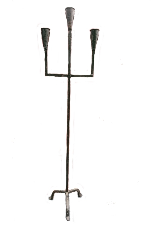 Candelabra - floor standing triple stem