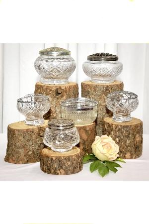 Vintage Cut Glass Rose Bowls