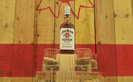 Display Branding for Jim Beam and Courvoisier