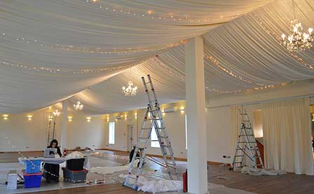 Permanent fabric installation for Logie House